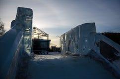Блоки льда в солнечном свете стоковые фото