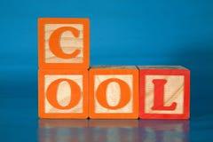 блоки охлаждают правописание Стоковое Изображение