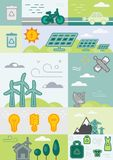 Блоки решений Eco Стоковые Изображения RF