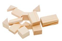 блоки строя детей деревянных стоковое фото
