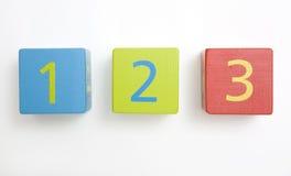 блоки строя ребенка s деревянного Стоковая Фотография RF
