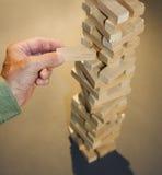 блоки строя руку случайную Стоковые Фото