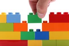 блоки строя стену Стоковая Фотография RF