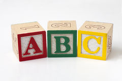Блоки ABC Стоковое Изображение