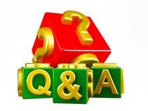 Блоки Q&A на белизне Стоковая Фотография RF
