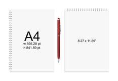 Блокнот и ручка Стоковая Фотография RF