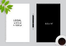 Блокнот и ручка Стоковое фото RF