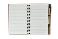 Блокнот с ручкой Стоковая Фотография RF