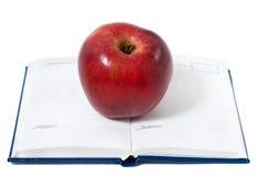 блокнот яблока сверх стоковые изображения