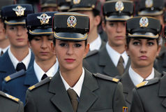 блок девушок кадета Стоковое фото RF