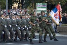 Блок кадета девушок в марше Стоковые Фотографии RF