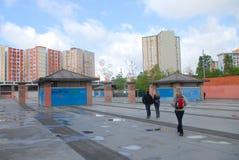 Блок квартир в пригородах Барселоны стоковая фотография