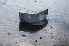 Блок льда озера Стоковая Фотография RF
