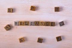 Блок металла слова доверия стоковое фото rf