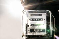 Блок метра электричества стоковое изображение