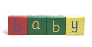 блок младенца деревянный Стоковые Фотографии RF