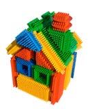блок покрасил творческую игрушку дома Стоковые Фото