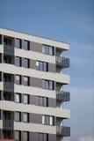 блок построил квартиры заново стоковые изображения