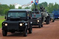 блок serbian полиций боя Стоковое Изображение RF