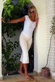 блондинка свода Стоковые Фотографии RF