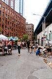 Блошиный рынок Бруклина в DUMBO в Нью-Йорке стоковая фотография