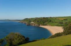 Блэкпул зашкурит пляж около Dartmouth Девона Англии Великобритании и песков Slapton стоковая фотография rf