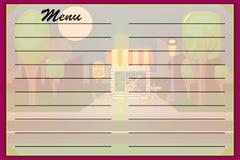блюда вектора меню каф, ресторанов Стоковые Фотографии RF