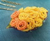 Блюда Индия помадки Jilebi & Imarti стоковые фотографии rf