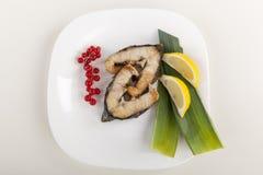 Блюдо зажаренной стерляжины Стоковое Изображение RF