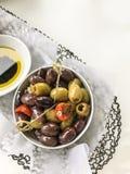 Блюдо оливок стоковая фотография rf