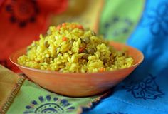 Блюдо khicri Khichdi традиционное индийское Стоковое Фото
