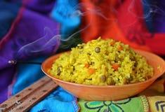 Блюдо khicri Khichdi традиционное индийское Стоковая Фотография RF