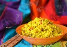 Блюдо khicri Khichdi традиционное индийское Стоковая Фотография