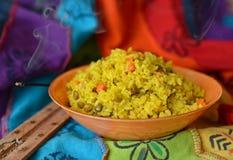 Блюдо khicri Khichdi традиционное индийское Стоковое фото RF