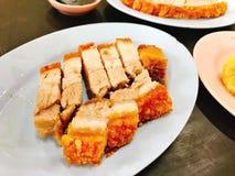 Блюдо yummy хрустящей свинины стоковое изображение rf