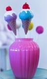 Блю и пинк мороженого стоковое изображение