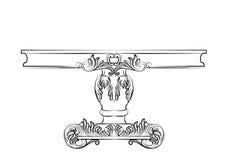 Богатая барочная таблица commode Стоковые Изображения