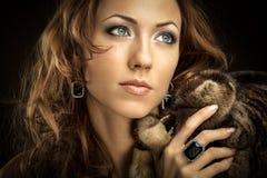 Богатая женщина стоковые изображения