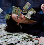 богатая женщина Стоковое Фото
