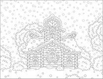 Богато украшенная башня на рождестве Стоковое Фото