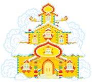 Богато украшенная башня на рождестве Стоковое Изображение
