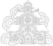 Богато украшенная башня на рождестве Стоковые Изображения RF