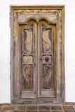 Богато украшенная дверь стоковое изображение