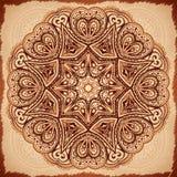 Богато украшенная винтажная предпосылка салфетки вектора Стоковая Фотография