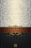 Богато украшенная винтажная предпосылка с цветочными узорами Стоковое Фото