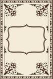 Богато украшенная винтажная страница Стоковые Фотографии RF