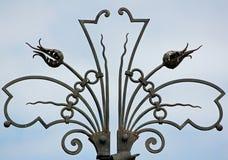 Богато украшенная декоративная загородка стоковые фотографии rf