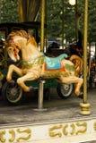 Богато украшенная деревянная лошадь Carousel Стоковые Изображения