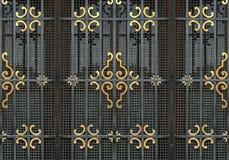Богато украшенная железная деталь окна Стоковые Изображения RF