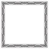 Богато украшенная квадратная черная рамка Стоковая Фотография
